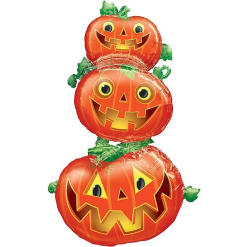Giant Stacked Jack-o'-Lantern Balloon, 61-in Product image