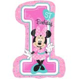 Giant 1st Birthday Minnie Mouse Balloon | Amscannull