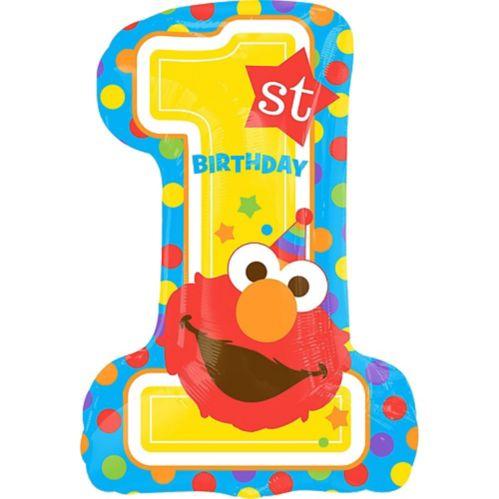 Elmo 1st Birthday Balloon, 28-in Product image