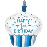 1st Birthday Blue Cupcake Balloon | Amscannull
