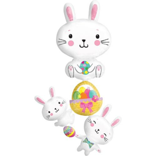 Giant Easter Bunny Cluster Balloon, 35-in