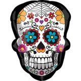 Ballon crâne en bonbon du jour des Morts, 24 po | Amscannull