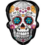 Day of the Dead Sugar Skull Balloon, 24-in | Amscannull
