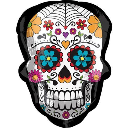 Ballon crâne en bonbon du jour des Morts, 24 po