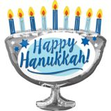 Ballon bougies de la ménorah de Hanoukka, 26 po | Amscannull