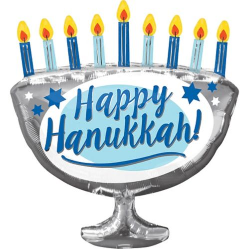 Hanukkah Menorah Balloon, 26-in