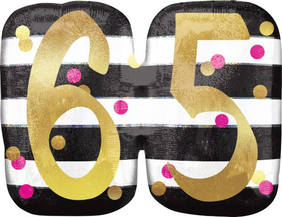 Sparkling Celebration 65th Birthday Balloon