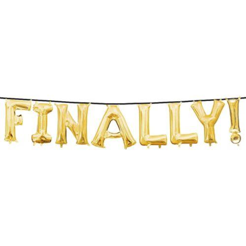 Enfin remplis d'air! Ballons de lettres, doré, paq. 8 Image de l'article