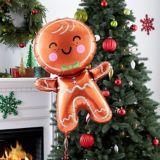 Ballon géant bonhomme de pain d'épices, 22 po | Amscannull