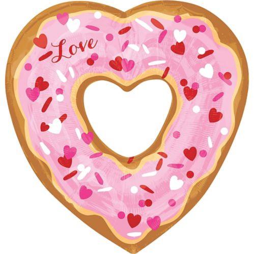 Ballon beigne d'amour avec coeur, 25 po