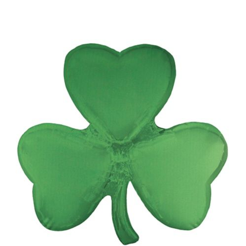 Giant Shamrock-Shaped Foil Balloon, 29-in