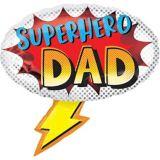 Ballon de la fête des Pères, Superhero Dad, 27 po | Amscannull