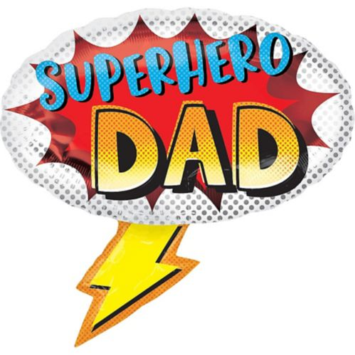 Superhero Dad Father's Day Balloon, 27-in