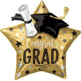 Giant 3D Congrats Grad Star Graduation Balloon, 28-in | Amscannull