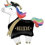 Giant Unicorn Believe Graduation Balloon, 33-in | Amscannull