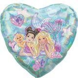 Ballon géant en coeur, Barbie sirène | Amscannull