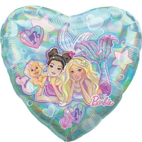 Ballon géant en coeur, Barbie sirène