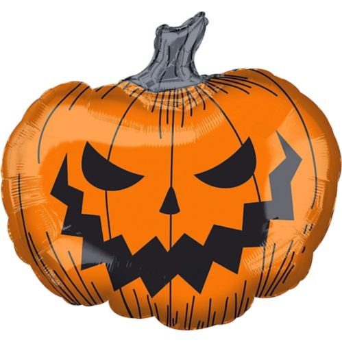 Scary Jack-o'-Lantern Balloon, 29-in