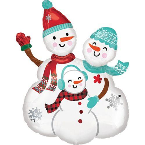 Christmas Snow Family Balloon, 23-in