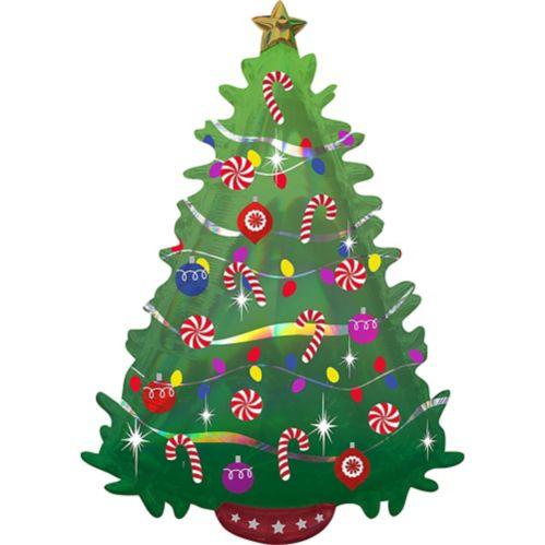 Green Christmas Tree Balloon, 26-in
