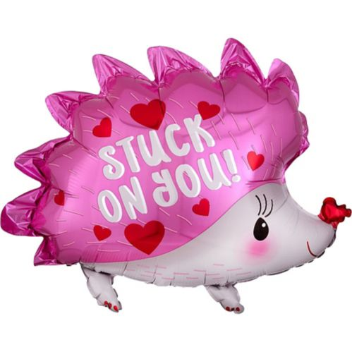 Pink Stuck on You Hedgehog Balloon, 20-in Product image