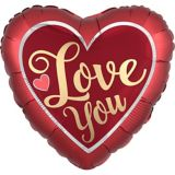 Giant Iridescent & Red Love You Heart Balloon, 28-in | Amscannull