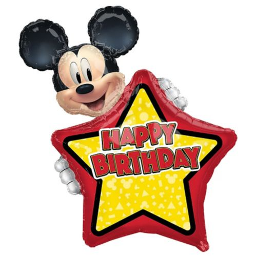 Giant Personalized Mickey Mouse Forever Birthday Balloon