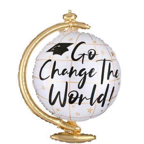 Ballon pour remise des diplômes en forme de globe, Go Change the World, 23 po Image de l'article