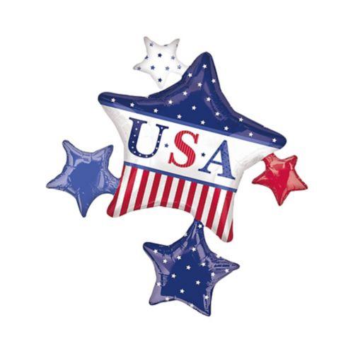 Ballons Étoiles d'Amérique classiques métal