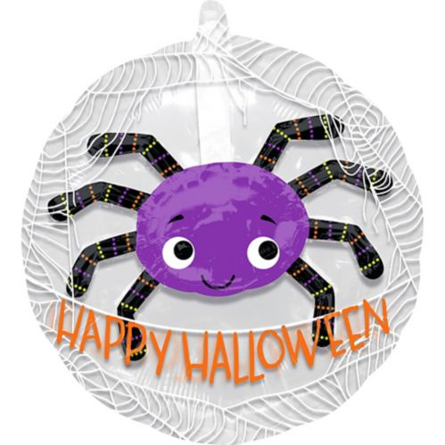 See Thru Purple Spider Balloon