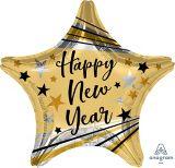 Happy New Year Bright Star Balloon