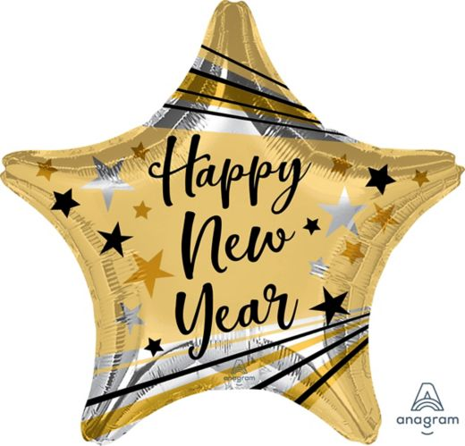 Happy New Year Bright Star Balloon Product image