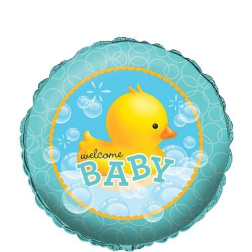 Rubber Ducky Baby Shower Metallic Balloon