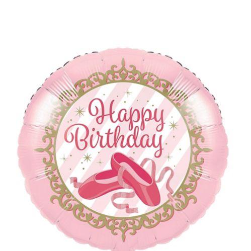 Ballerina Birthday Mylar Balloon, 18-in, 10-pk