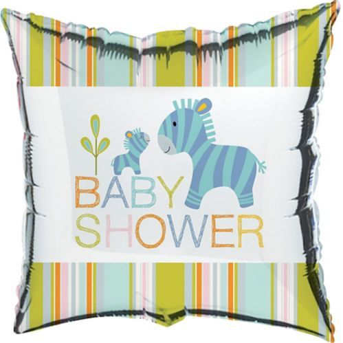 Happy Jungle Baby Shower Mylar Balloon, 18-in, 10-pk