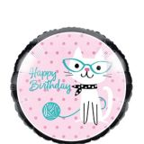 Purrfect Cat Birthday Balloon, 18-in, 10-pk