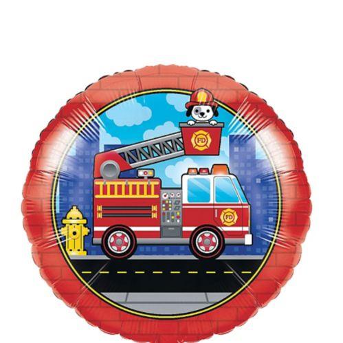 Ballon en Mylar, camion de pompiers, 18 po, paq. 10