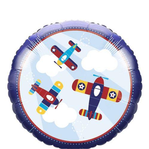Toy Airplane Mylar Balloon, 18-in, 10-pk