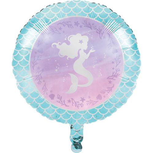 Shimmer Mermaid Mylar Balloon, 18-in, 10-pk