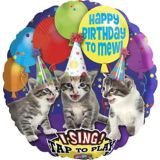 Singing Happy Birthday Kitten Balloon, 28-in | Amscannull