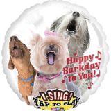 Ballon d'anniversaire, chien qui chante, 28 po   Amscannull