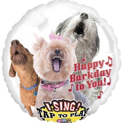 Ballon d'anniversaire, chien qui chante, 28 po