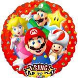 Ballon chantant Super Mario Brothers, 28 po | Amscannull