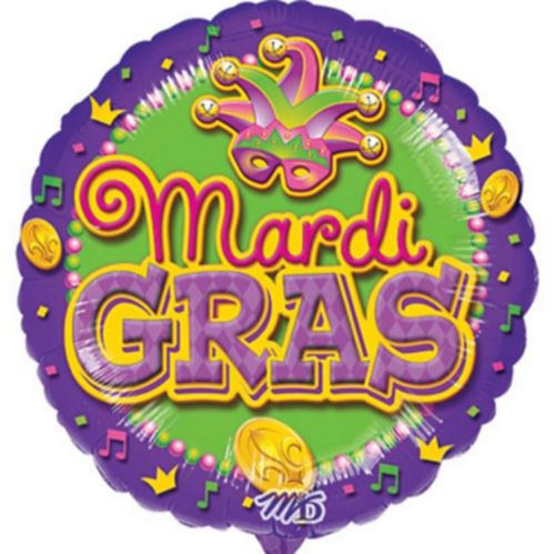 Mardi Gras Mask Balloon, 17-in