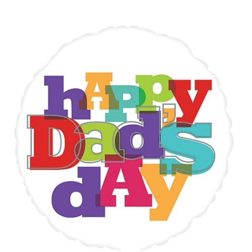 Foil Happy Dad's Day Balloon, 17-in