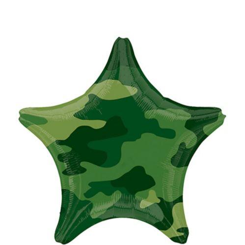 Camouflage Star Birthday Balloon