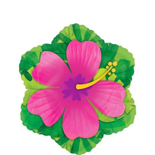 Pink Hibiscus Balloon, 17-in