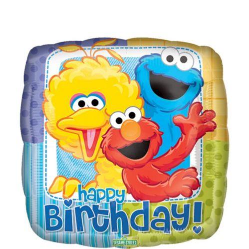 Happy Birthday Sesame Street Balloon, 17-in Product image