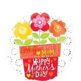 Ballon de la fête des Mères, pot de fleurs, 18 po