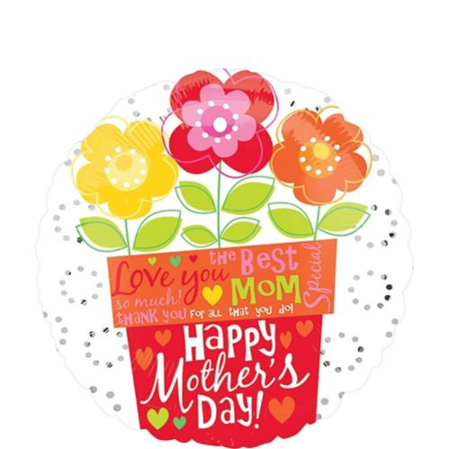 Mother's Day Flower Pot Balloon, 18-in